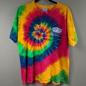 Ron Jon Surf Shop Tie-dye Tee Shirt Sz Large